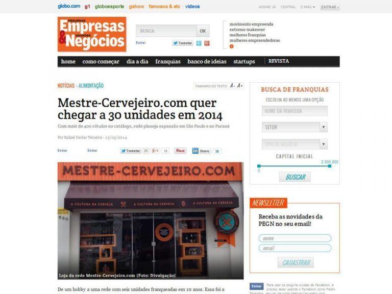 PEGN: Mestre-Cervejeiro.com quer chegar a 30 unidades em 2014