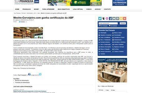 SuaFranquia.com: Mestre-Cervejeiro.com ganha certificação da ABF