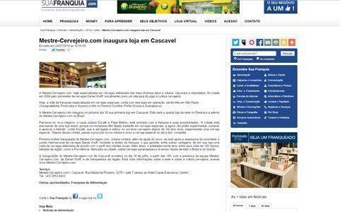 SuaFranquia.com: Mestre-Cervejeiro.com inaugura loja em Cascavel