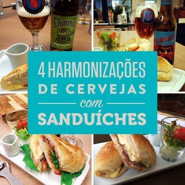 4 harmonizações de cervejas com sanduíches