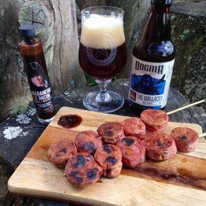 harmonizações de cerveja com espetinhos_linguiça x dogma the wallace