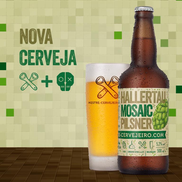 Nova cerveja: Mestre-Cervejeiro.com Hallertau Mosaic Pilsner